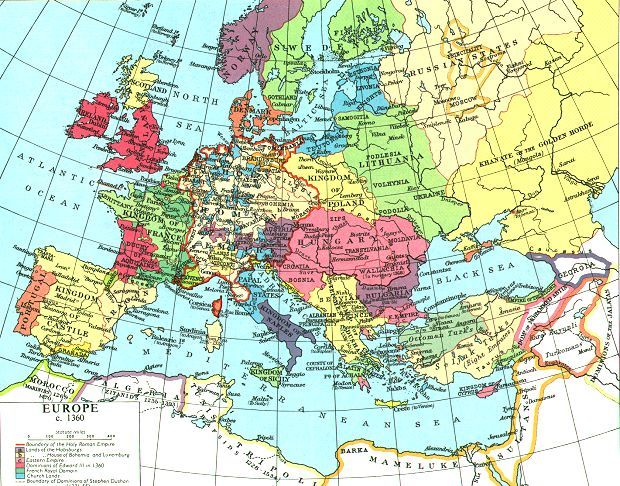 Map Of England 790 Ad.Europe In The Middle Ages From 500 Ad 1500 Ad