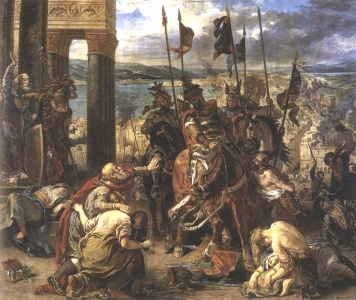 Entry of the Crusaders into Jerusalem, by Eugene Delacroix [1840] (Public Domain Image)